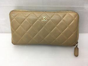 シャネル Chanel 財布 染め直し、ファスナー引手交換